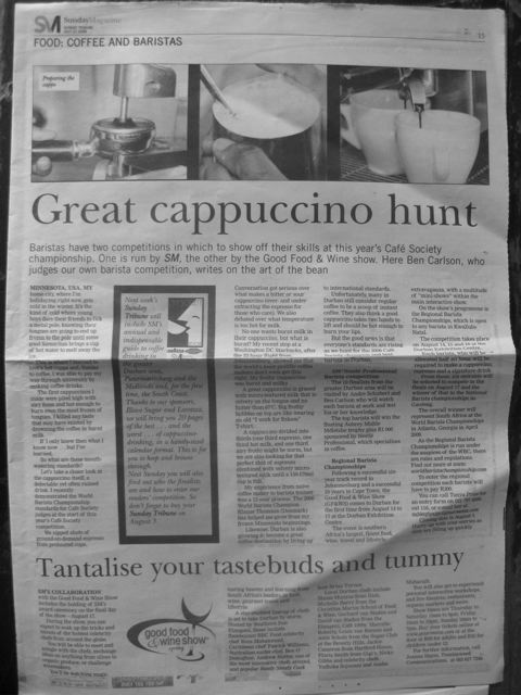 Great cappuccino hunt